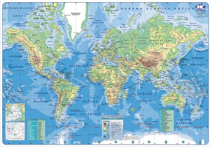 Mapa Nº6 F P Planisferio X 25un Distribuidora La Colo